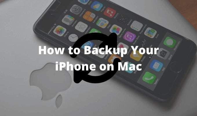 Как сделать резервную копию вашего iPhone на Mac