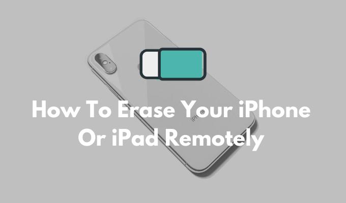 Как стереть данные с iPhone или iPad удаленно