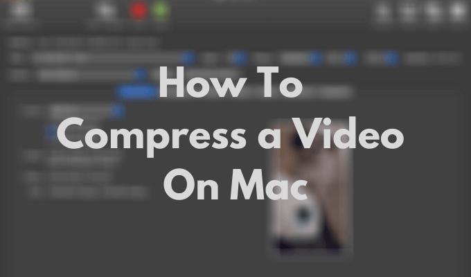 Как сжать видео на Mac