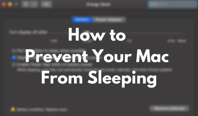 Как не дать вашему Mac спать