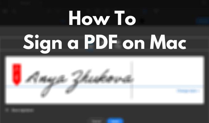 Как подписать PDF-файл на Mac