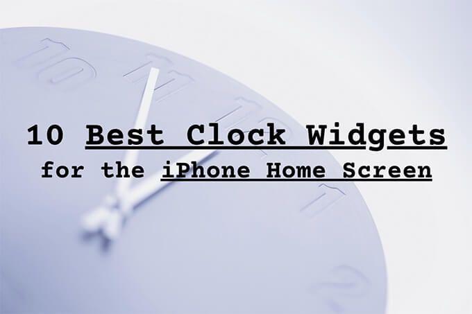 10 лучших виджетов часов для главного экрана iPhone