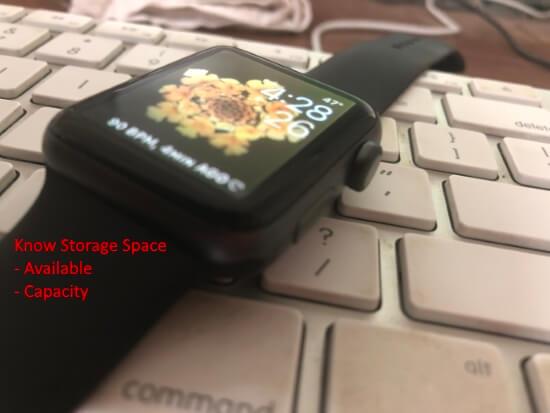 Проверьте доступное бесплатное хранилище на Apple Watch после обновления во всех WatchOS