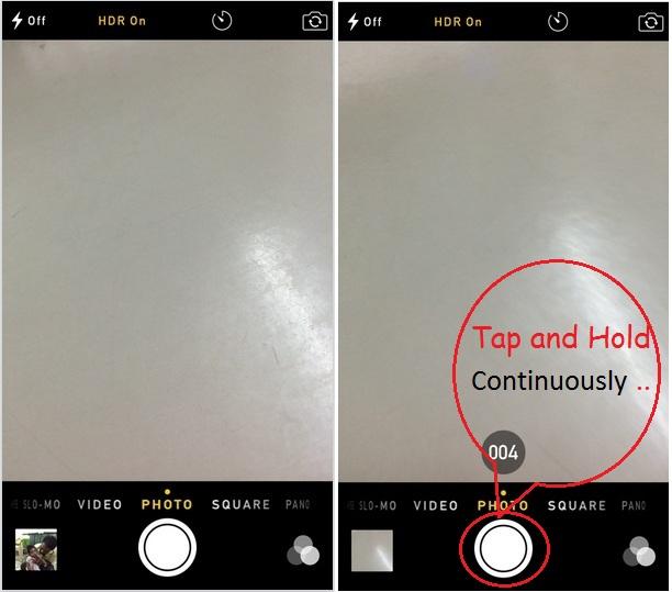 Как сделать несколько фотографий одновременно на iPhone 12/11 / XR / XS Max