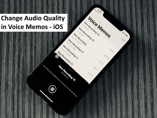 Как изменить качество звука в приложении голосовых заметок на iPhone 12/11 / XR