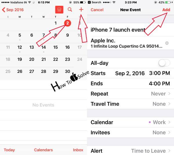 Как удалить, обновить или добавить событие в календарь iPhone