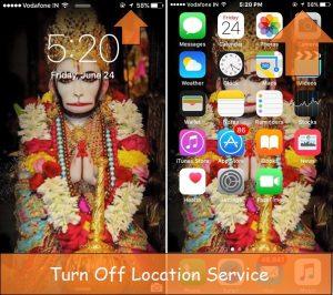 Уловка для удаления треугольной стрелки в строке состояния iPhone: блокировка / главный экран
