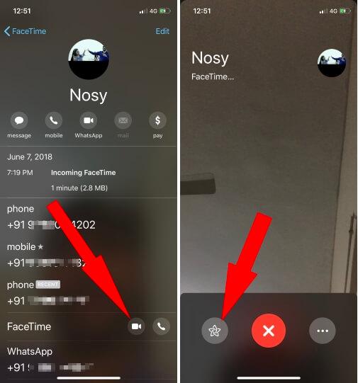 Использование Animoji и Memoji во время видеозвонка FaceTime в iOS 14 / 13.7 / iOS 12.4
