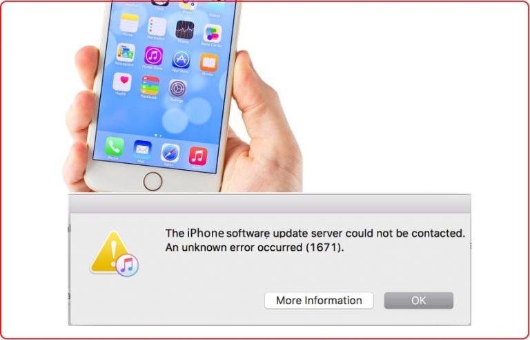 Код ошибки 1671, зависание при восстановлении iTunes, iPhone, iPad, iPod Touch