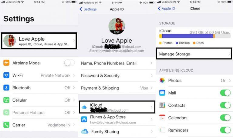 Как освободить хранилище iCloud на iPhone 12, XR, 11, XS Max, 8,7,6S, iPad