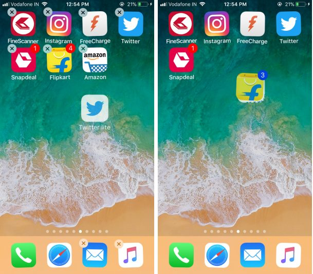 Как покачивать и перемещать приложения на iPhone 12Pro, 11 Pro, Max, XR, XS Max