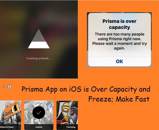 Prisma работает медленно или «перегрузка»?  На iPhone, iPad: разморозить или быстро