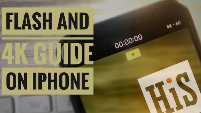 4K при 60 кадрах в секунду Запись видео со вспышкой на iPhone X, 8 (Plus), 7/6 / 5S