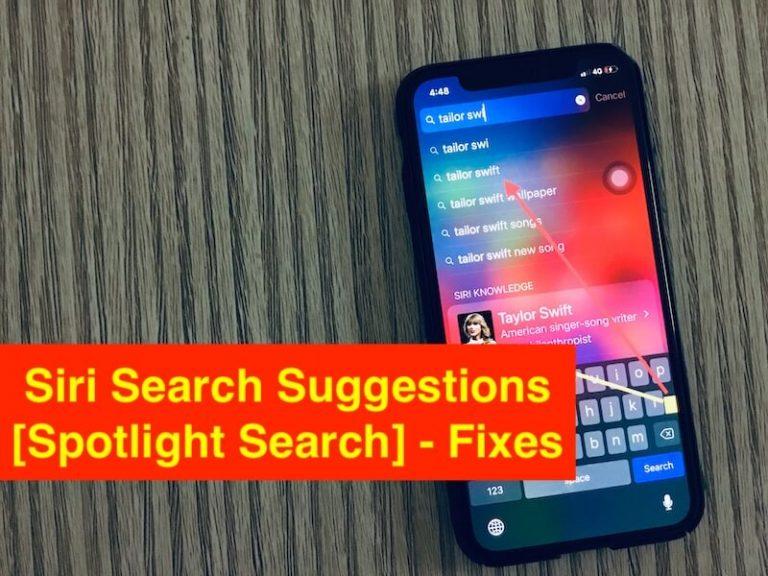 iOS 14 предложения поиска Siri [Spotlight] Не работает на iPhone / iPad