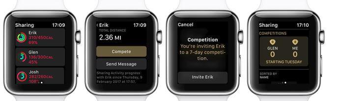 Как начать соревнование по активности на Apple Watch, управлять уведомлениями