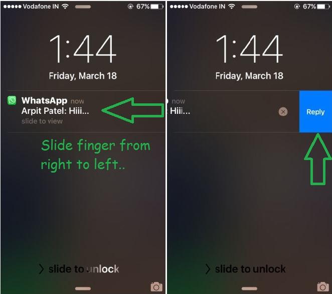 Как отвечать на сообщения WhatsApp на экране блокировки iPhone, iPad