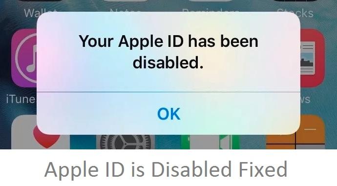 Apple ID отключен 2020, Apple ID заблокирован на iPhone, iPad