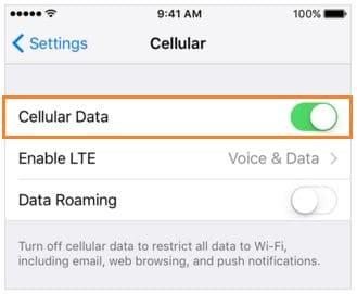 Исправить отсутствующие настройки сотовых данных iPhone [Complete Guide]