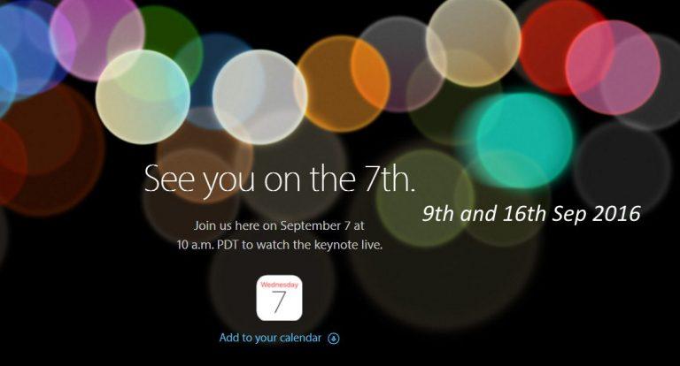 Важные даты выхода iPhone 7,7 Plus, Apple Watch, MacBook