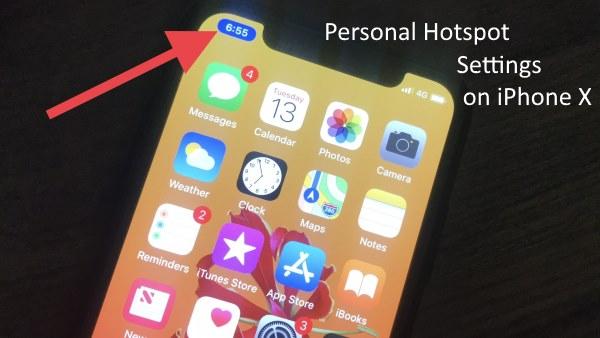 Как отключить / включить личную точку доступа на iPhone X, iPhone 8, 8 Plus