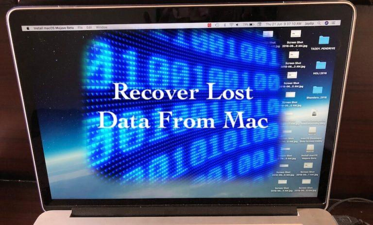 Восстановление потерянного файла после обновления macOS Mojave: восстановление данных MacOS