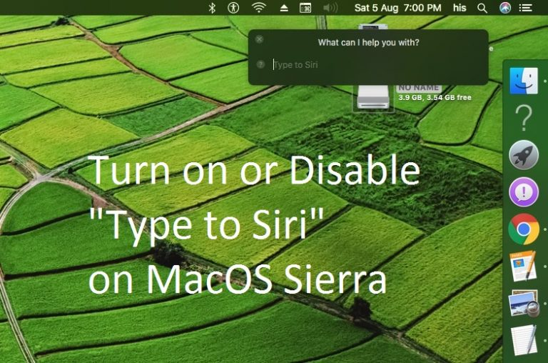 Как отключить / включить функцию «Печатать для Siri» в macOS Big Sur / Catalina, Mojave