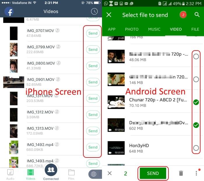 Перенос фотографий и видео с Android на iPhone XS / XS Max / iPhone XR