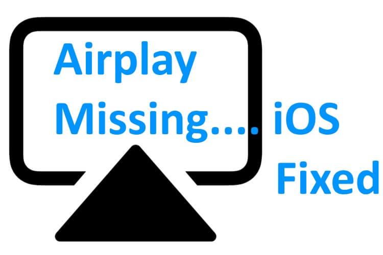 Значок AirPlay отсутствует в iPhone 12, 11, XR, XS / XS Max, 7, 8, 6S