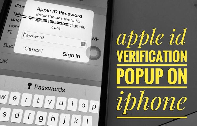 Мой iPhone продолжает спрашивать пароль моего Apple ID на iPhone