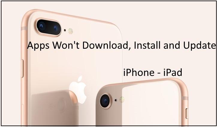 Магазин приложений не загружает / не обновляет приложения на iPhone 8, 8 Plus, iPhone X
