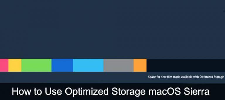 Как использовать оптимизированное хранилище macOS Big Sur / Catalina, Mojave, Sierra
