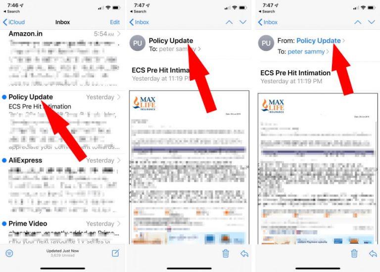 Остановить спам-почту в iOS 14 / 13.7