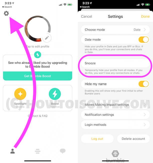 Как сбросить свой аккаунт Bumble на iPhone, iPad, Android в 2021 году