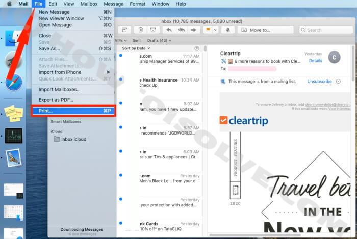 Как конвертировать почту в PDF на Mac из приложения Apple Mail и браузера Gmail