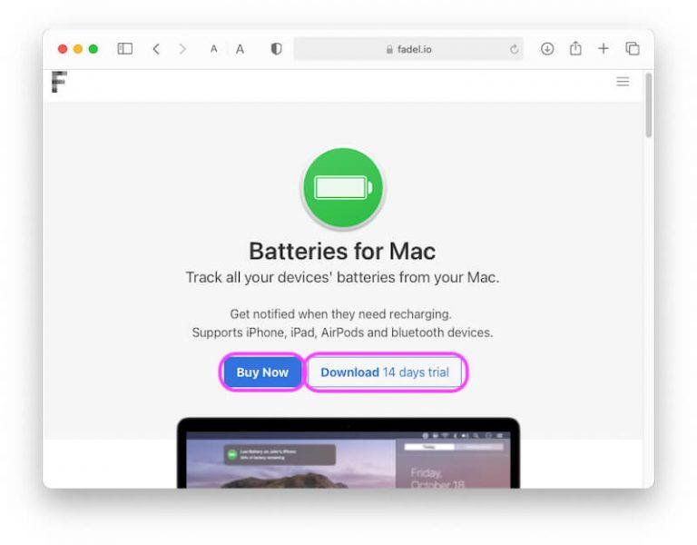 Можно ли добавить виджет батареи на MacBook?