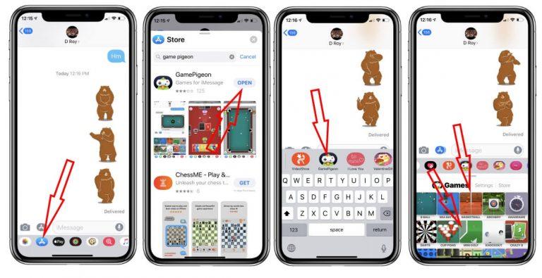 Как играть в баскетбол и мини-гольф в iMessage на iPhone и iPad