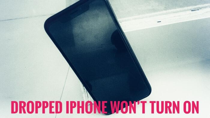 Упал экран iPhone XR черный! [Fixed] Но не треснул / не включается