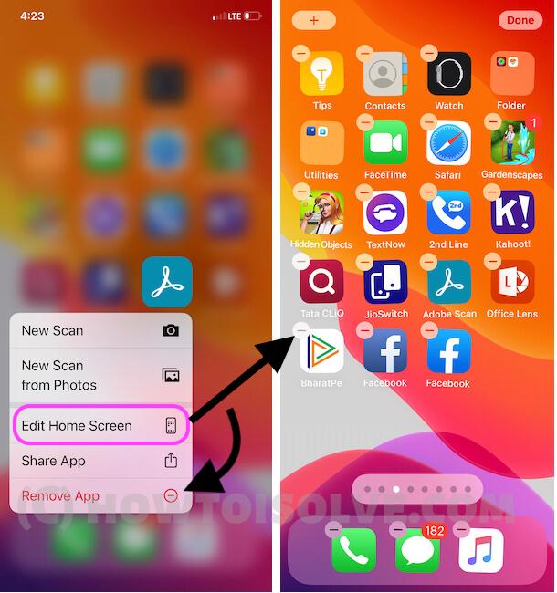 Приложения iOS 14 не будут удаляться с помощью покачивания на iPhone 12Pro, 11 (Pro / Max), iPhone X