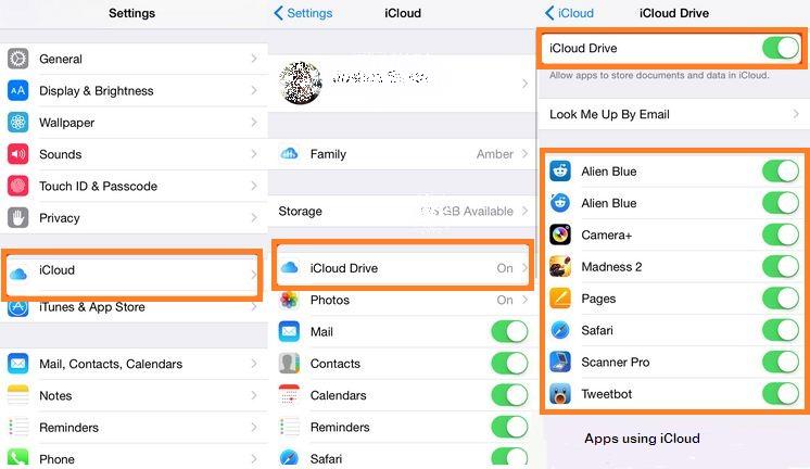 Включение / отключение приложения Доступ к iCloud Drive на iPhone, iPad и Mac