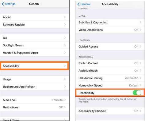 Как использовать или отключить / отключить доступность в iPhone 6, 6 Plus, 6SPlus
