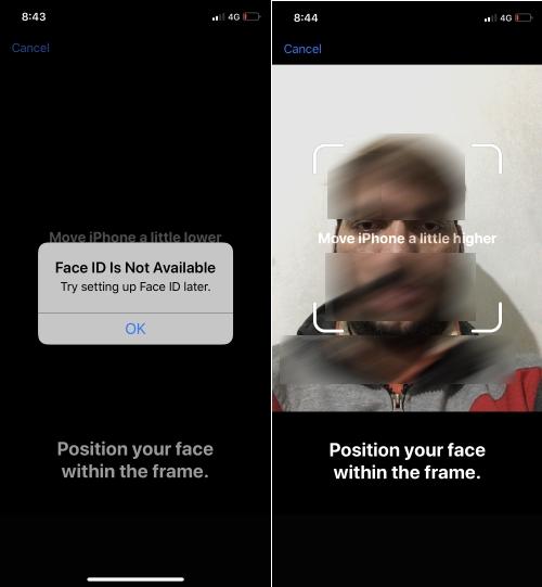 Исправить Face ID недоступно, попробуйте настроить Face ID позже