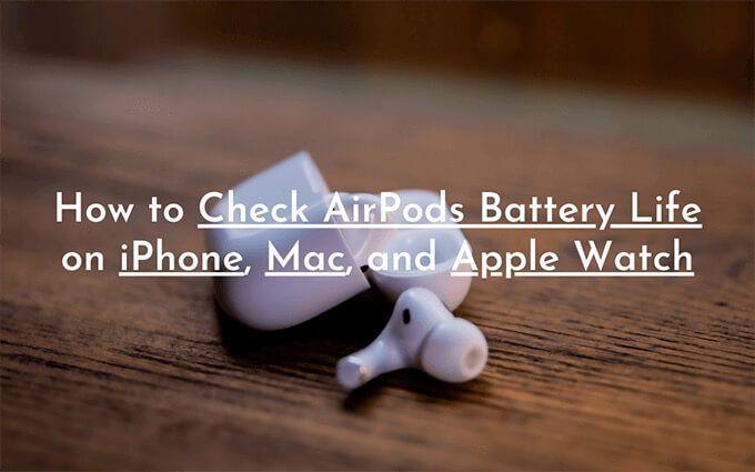 Как проверить время автономной работы AirPods на iPhone и Mac