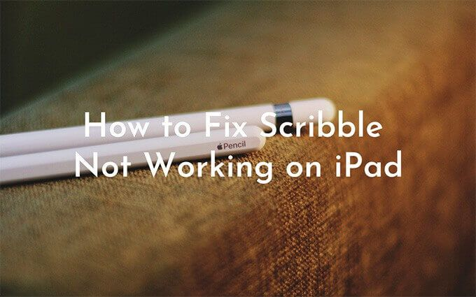 Как исправить неработающие каракули на iPad