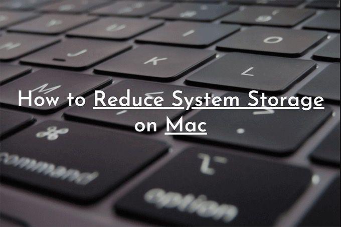 Как уменьшить объем системного хранилища на Mac