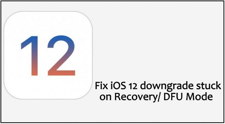 Исправить зависание перехода на более раннюю версию iOS 14 / 13.7 при восстановлении / режиме DFU / логотипе Apple
