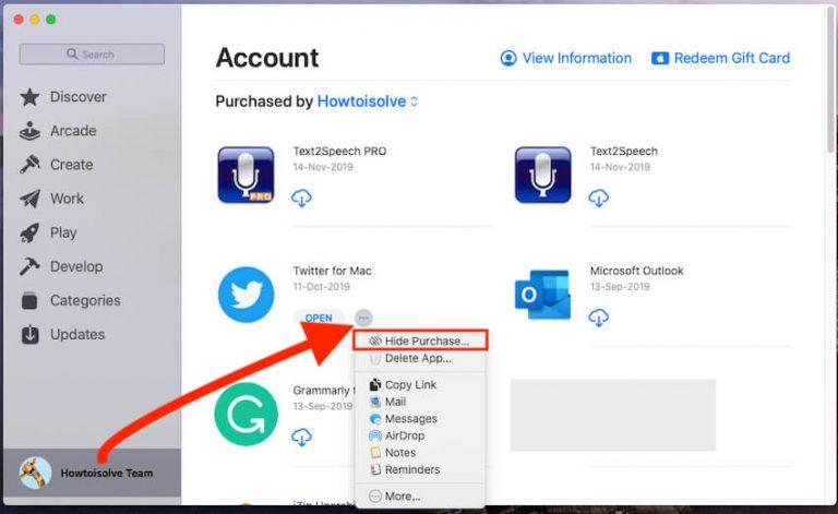 Как показать / скрыть купленные приложения на Mac, MacBook в App Store