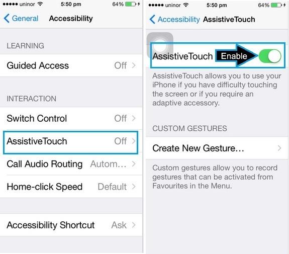 Как сделать снимок экрана на iPhone без дома и кнопки питания