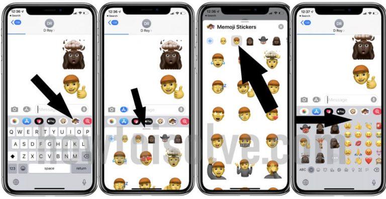 Как использовать стикеры Memoji в iOS 14 / 13.7 на iPhone 12 / XR / 11 Pro Max