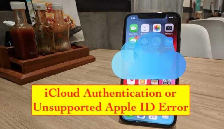 Исправить iPhone XS Max, показывающий аутентификацию iCloud / неподдерживаемый Apple ID