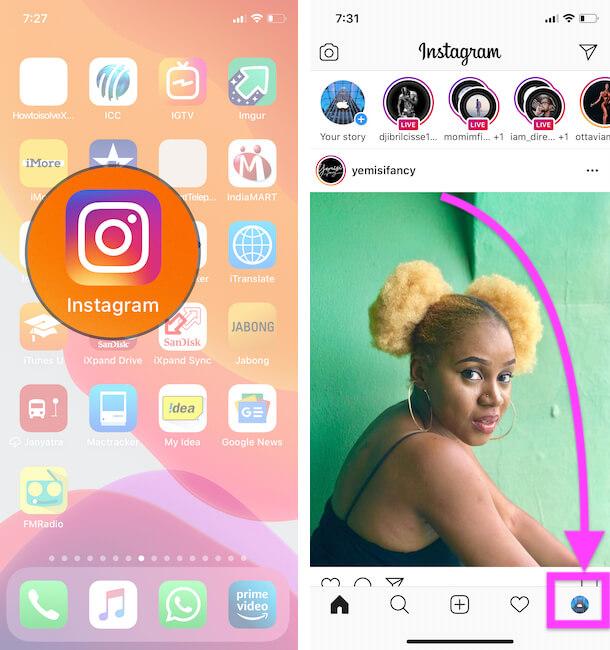 Как добавлять и переключаться между несколькими учетными записями Instagram на iPhone